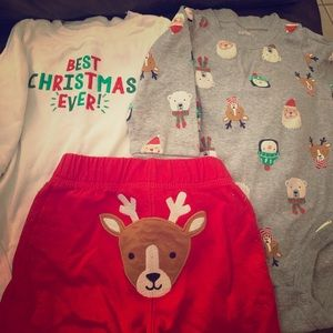 Carters 9 month Christmas set